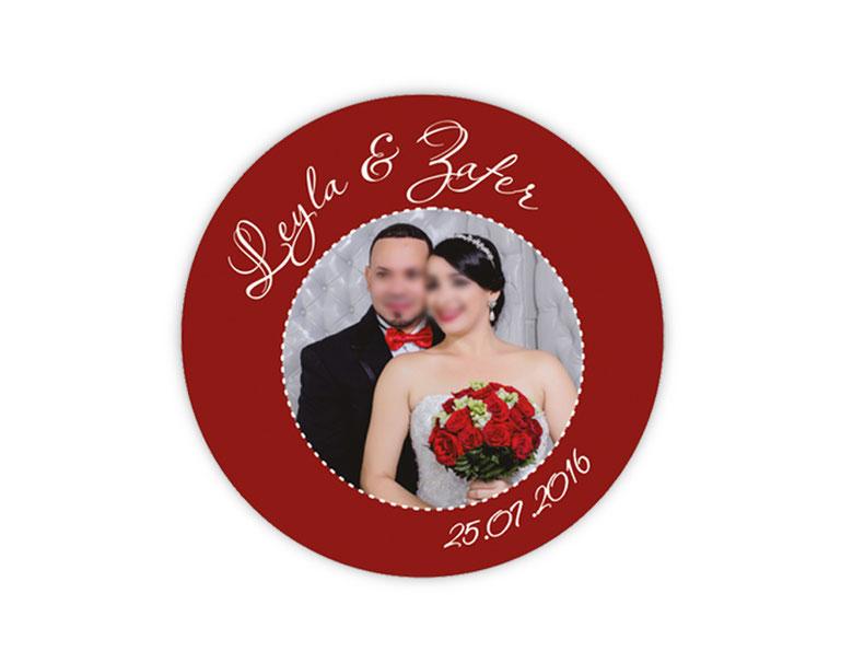 personalisierbare Hochzeitsaufkleber mit Foto - für Verlobungen, Hochzeiten, Familienfeiern, Gastgeschenke, Einladungen, Dankesbriefe