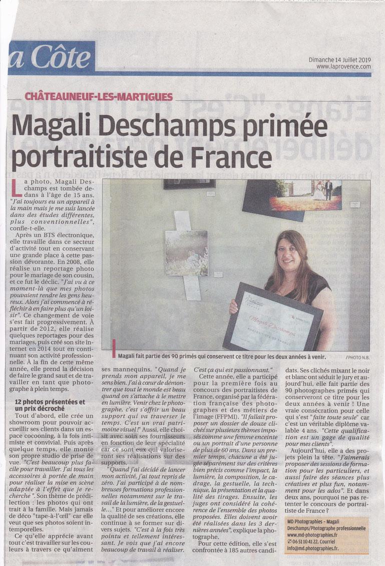 Portraitiste de France 2019 Magali Deschamps