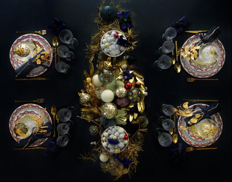 Weihnachtsdinner bei den dänischen Königlichen. Foto: Copyright Schackenborg Fonden