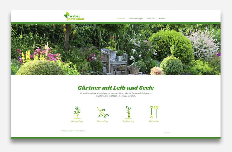 Gartenbau Weber Erstellung der Webseite mit Jimdo