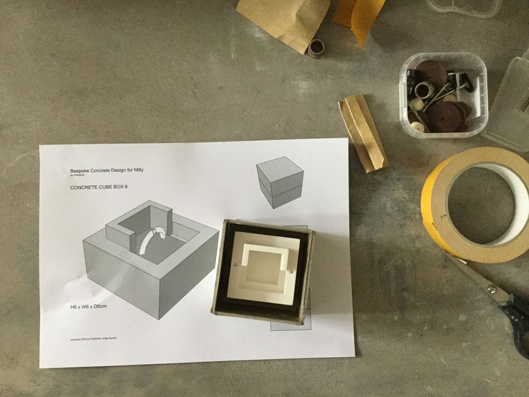 Commissioning Process For A PASiNGA Concrete Jewellery Box