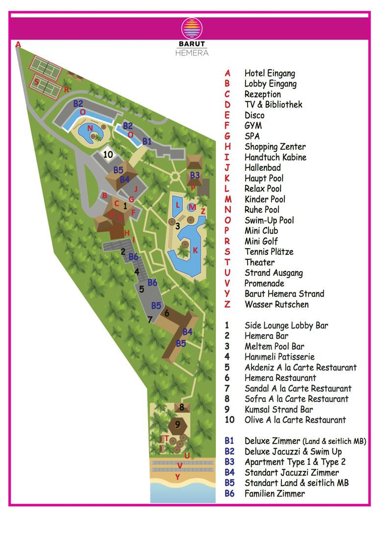 Barut Hemera ★★★★★ Hotel Lageplan