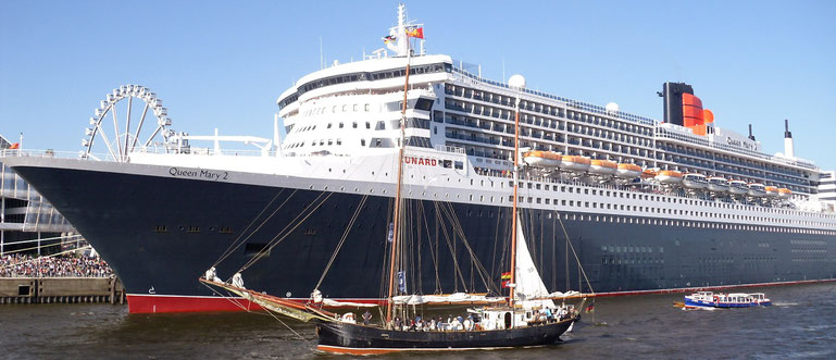 Transatlantik Überquerung Queen Mary 2 Hamburg New York oder New York hamburg mit Flug und Hotel in New York