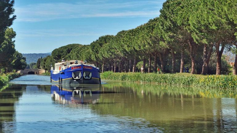 Hotelbarge Enchanté auf dem canal du Midi