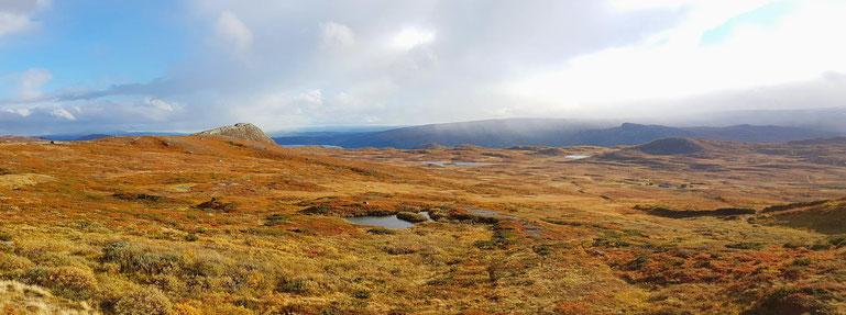 Norwegen, Landschaft auf den Lofoten mit Wasserspiegelung eines Berges im See