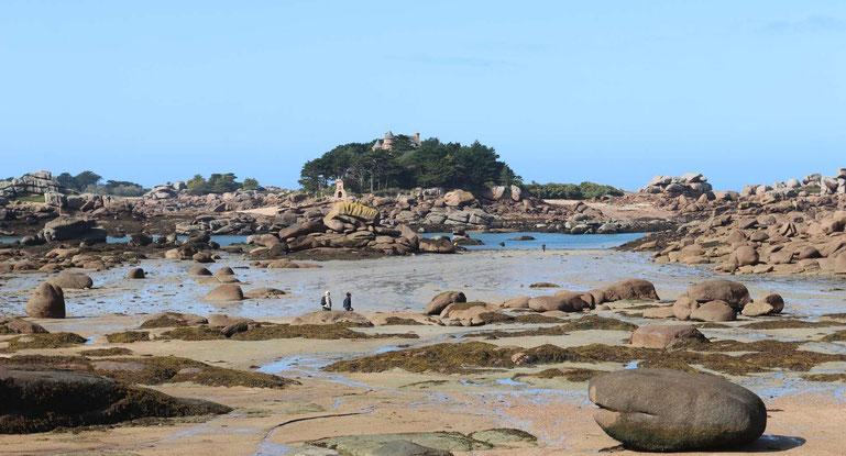 Rosa Granitküste Bretagne