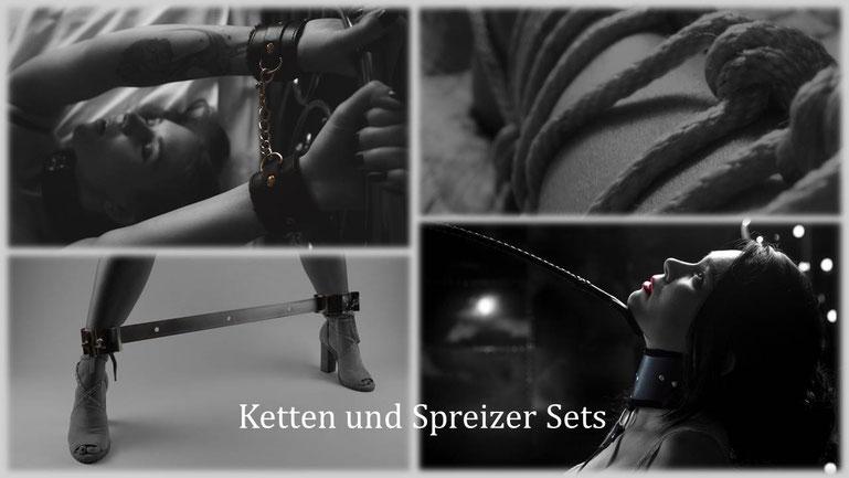 Bondage & BDSM - Fessel Set - Handschellen und Fußfesseln