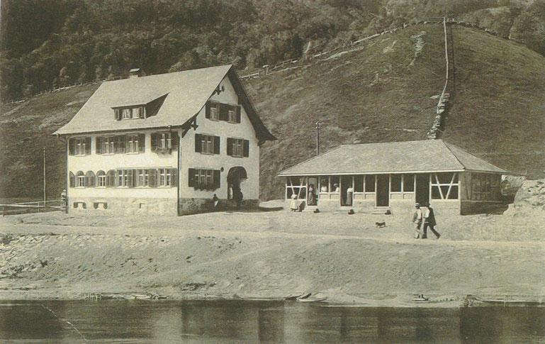 Der alte Rhodannenberg kurz nach dem Bau.