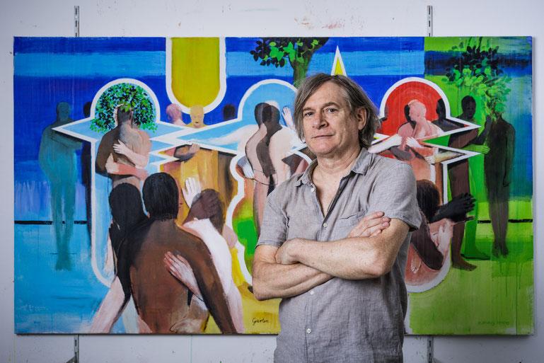 Michael Hedwig, 2017, Atelier, Foto: Matt Observe