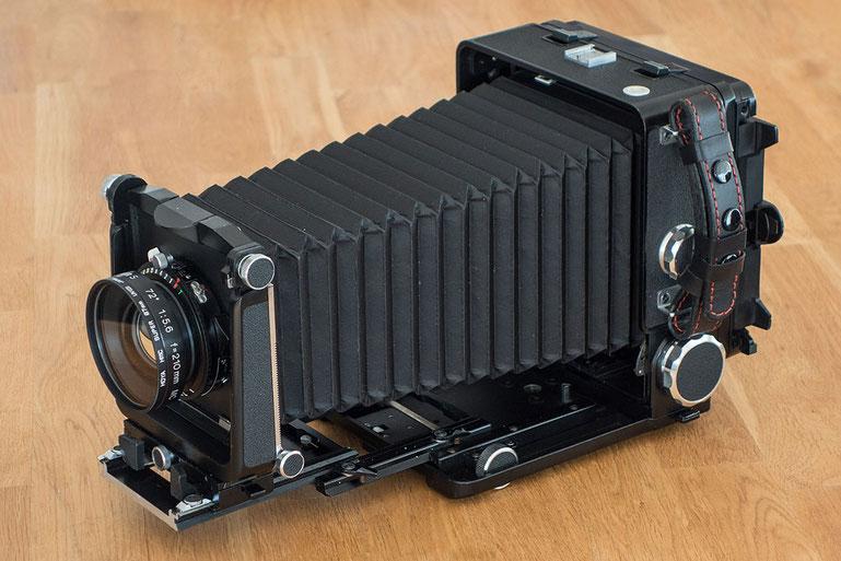 Die WISTA 45SP hat einen maximalen Auszug von ca. 30 cm. Foto: bonnescape.de