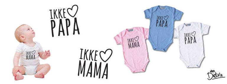 Ik hou van mama en papa romper T-shirt
