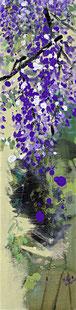 紫藤4 WISTERIA 4 100X25CM 布面油画 OIL ON CANVAS