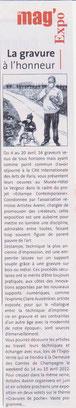 Expo Estampe Contemporaine, Mag'Info, 7-23 avril 2012