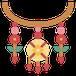 petit icône d'un collier ethnique multicolore