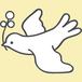 白い鳩のアイコン