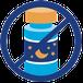 Logo geen slaapmiddelen, doorgestreept potje pillen