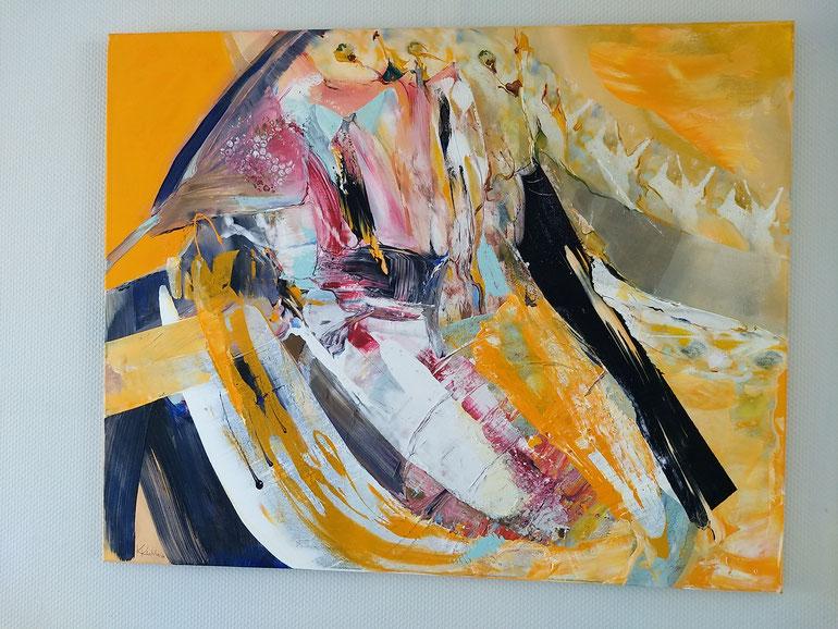 HERMAPHRODIT, Acryl auf Leinwand, 100x80cm
