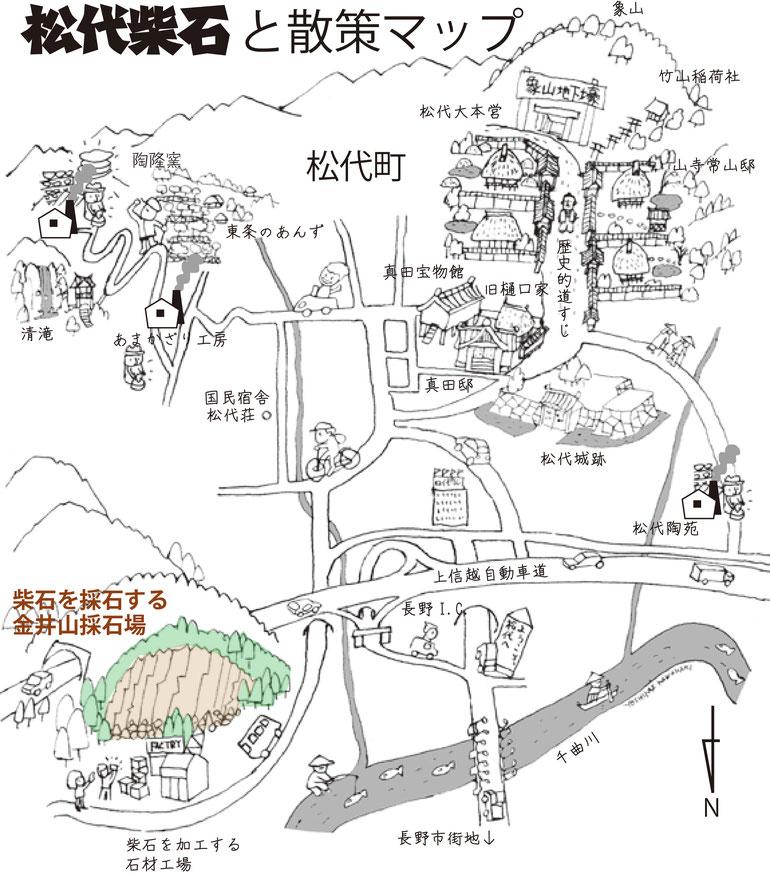 マツシロック地図 マツシロック 松代柴石 マツシロックプロジェクト