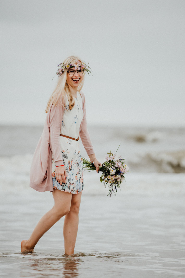 Lovestory Shooting am Strand von Sankt Peter Ording