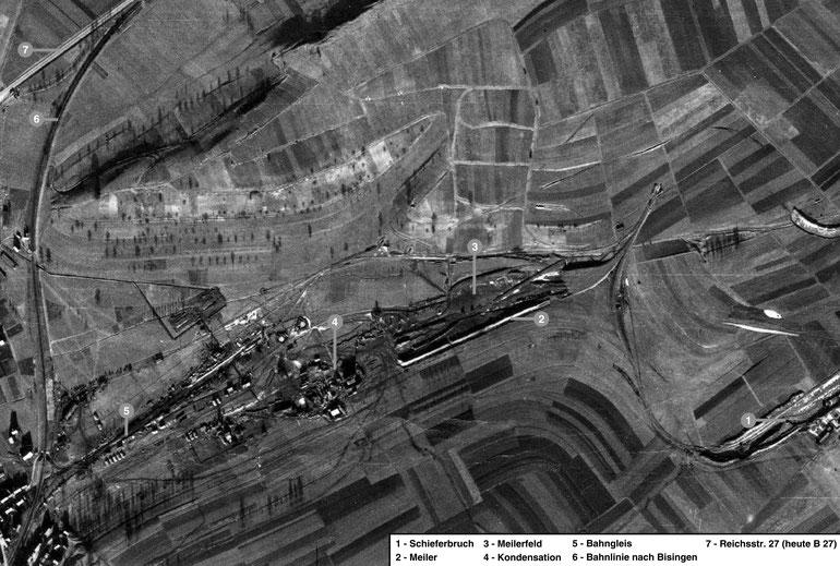 Britische Luftaufnahme von Wüstewerk 3 - Engstlatt, 25. Dezember 1944. (National Collection of Aerial Photography, Edinburgh)
