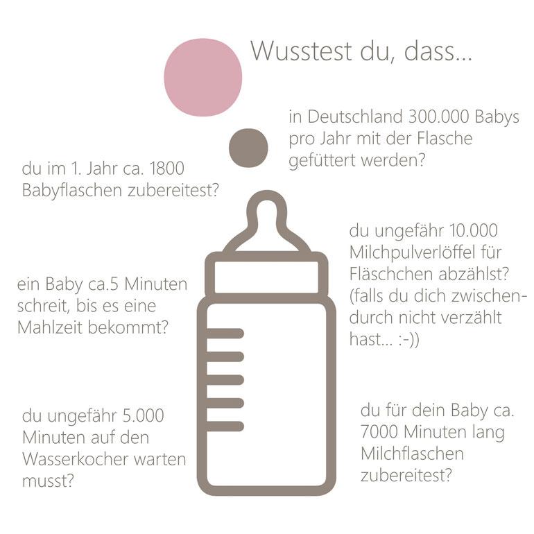 Fakten rund um die Zubereitung von Babyflaschen