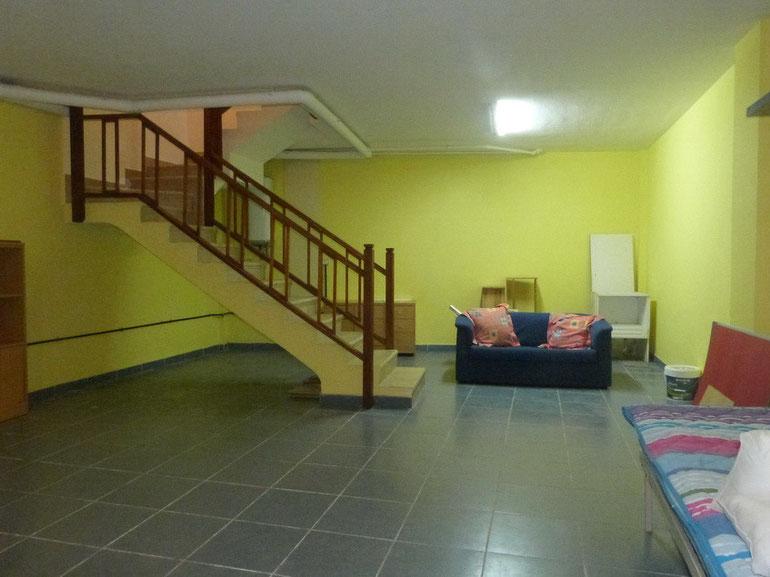 Blick durch die untere Etage