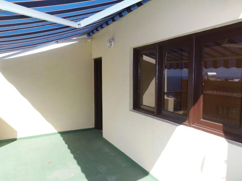Ausgang Terrasse vom Wohnbereich