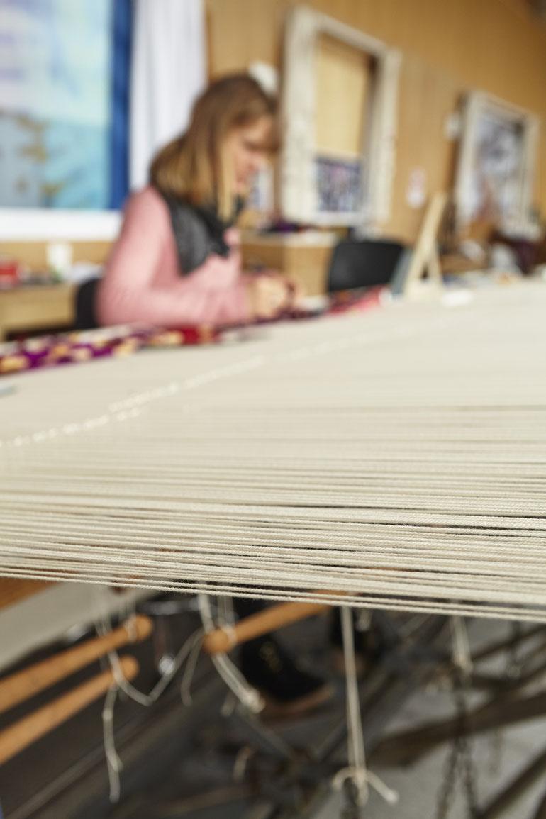 tapiserie en cours, manufacture des Gobelins, Paris