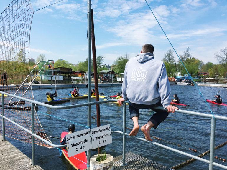 Uwe Richter vom WSW Rostock blickt zurück auf die Flussbad-Saison 2017.