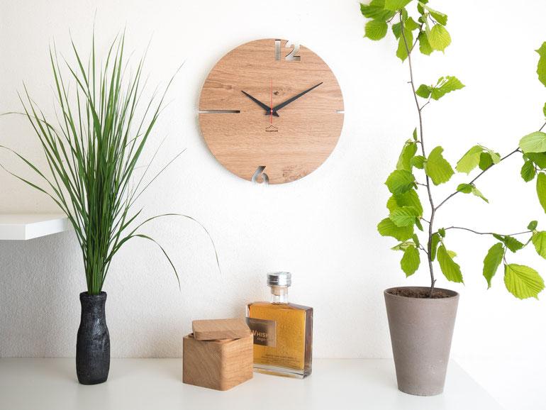 Tafinity Holz Wanduhren modern