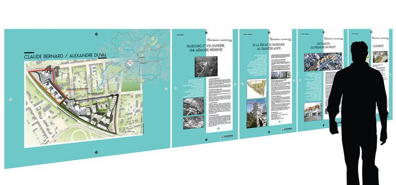 plaquette et panneaux d'exposition xxl pour ZAC Maurepas Gayeulles