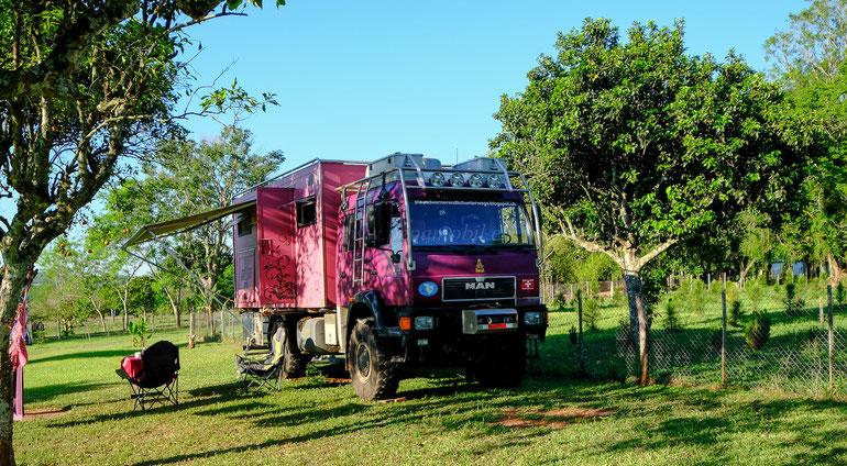 4x4x MAN in Paraguay bei Bruno und Renate