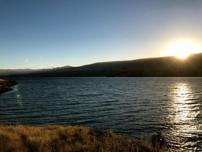 Arriving at Lake Dunstan