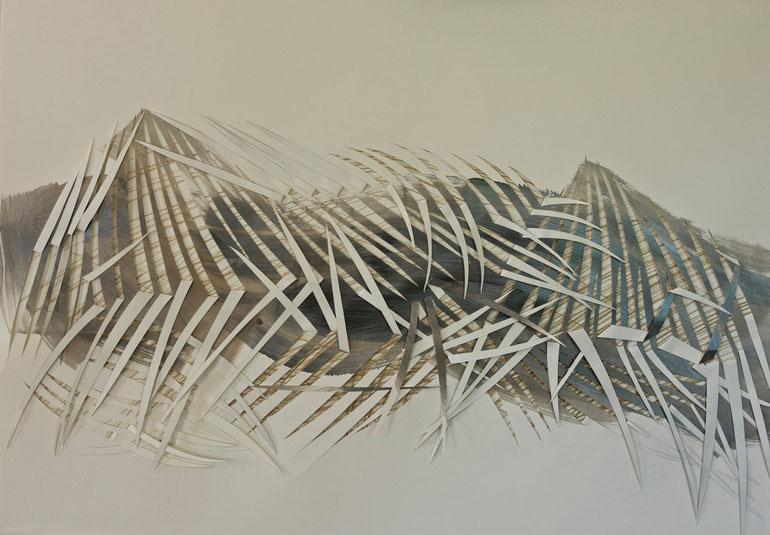 atacama  2014    ink  acrylic  broux  de  noix   crayon   paper    70  x  100  cm