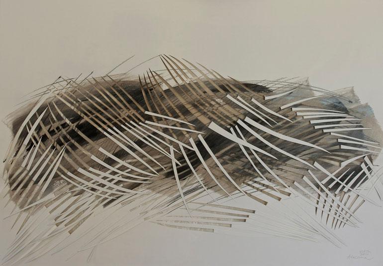 atacama  2014       ink  coal  acrylic  broux  de  noix  paper     70  x  100  cm