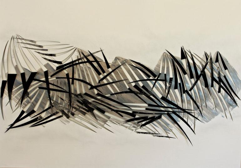 tierra del fuego    2014      ink   acrylic   broux  de  noix   paper    70  x  100  cm