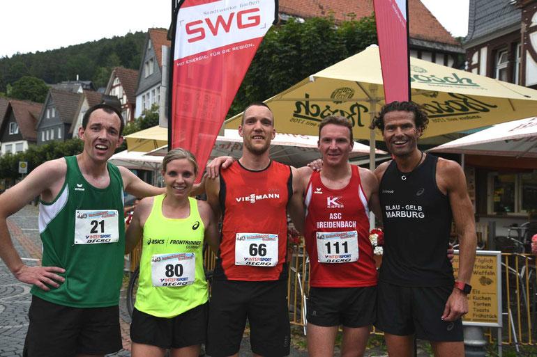 Von links T. Schulz, A. Starostzik, M. Thomas, M. Feussner und M. Schraub FOTO Schaake