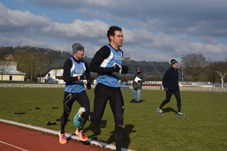 10 000m Zweikampf den Sebastian Schaake gege Lars Siegmund FOTO H. Schaake