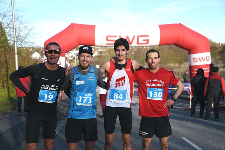 Limeswinterl die ersten 4 19 M. Schraub, Felix Thum, Nikas Raffin und Jamal Sanhaji FOTO H. Schaake