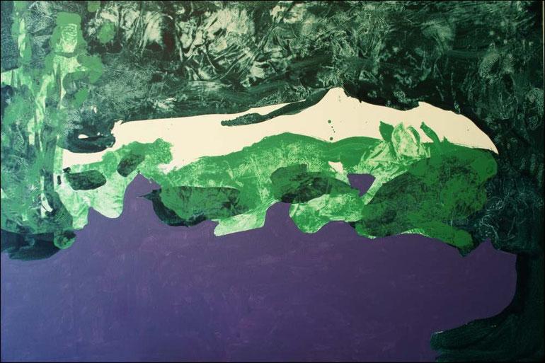 travail en cours, acrylique sur toile, 130 x 89 cm