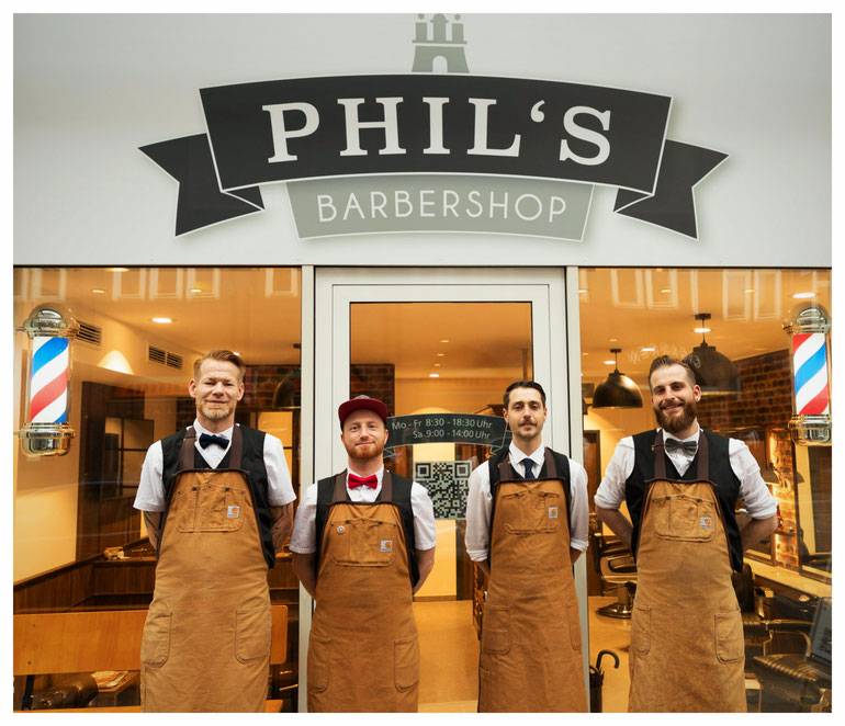Phil's Barbershop Hamburg Herrenfriseur Friseur Zentrum City Chilehaus Altstadt Barbier Barber Rasur Bart