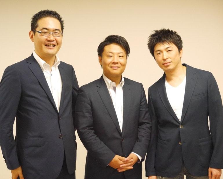 講師集合写真 左から、原田塾長・岩見貴文さん・吉田哲也さん