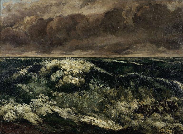 "Gustave Courbet, ""L'onda"" (1869)"