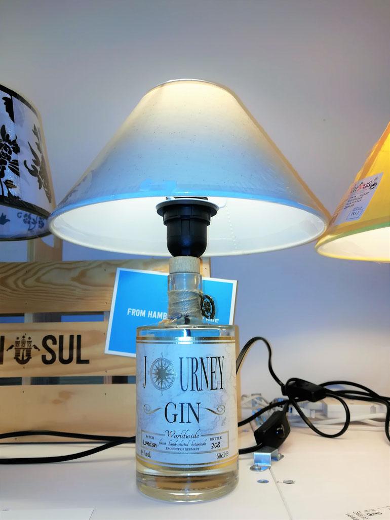 gin lampe, ginlampe, upcycling, knut hansen gin lampe, gin sup gin lampe