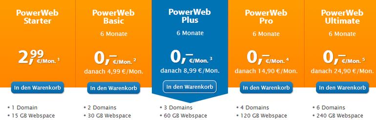 Strato PowerWeb Preise