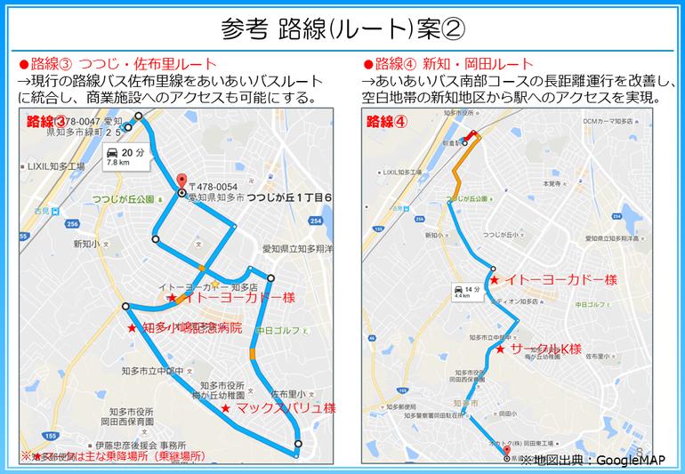 市バスのルート