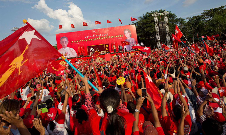 アウンサンスーチー,ミャンマー総選挙