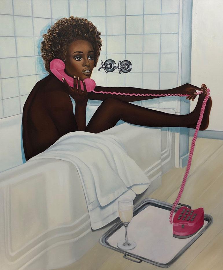 Susanna in the Bath/Two,Oil on Canvas, 175 x 150cm, 2019