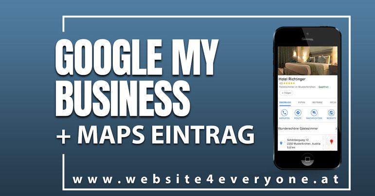 google my business eintragen lassen