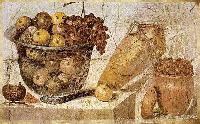 Fruits, Maison de Julia Félix Pompéï, Musée archéologique national Naples, Photo: Robert Etienne